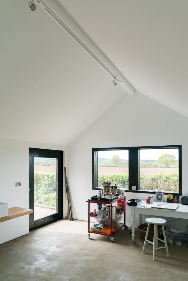 Chantry Studio Interior View to Fields (c) YOU&ME Architecture